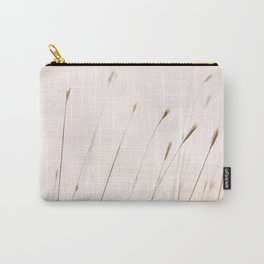 Tall grass against cloudy sky Carry-All Pouch