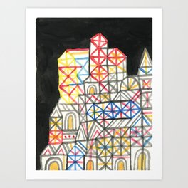 Crystal City 07-30-10b Art Print