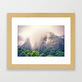 Dramatic Iao Valley Framed Art Print