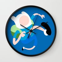finn Wall Clocks featuring Finn by Polvo