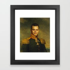 Matt Damon - replaceface Framed Art Print