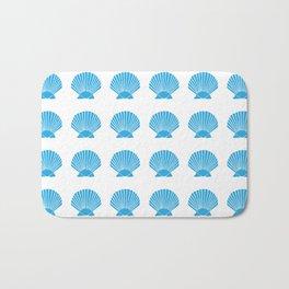 Blue Seashell Bath Mat