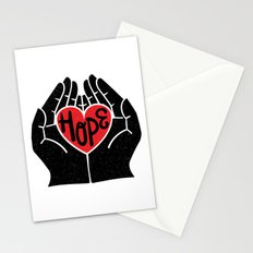 Hold hope in your heart Stationery Cards