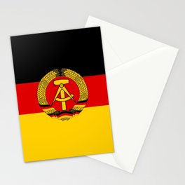 flag of RDA Or east Germany Stationery Cards