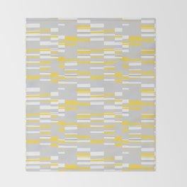Mosaic Rectangles in Yellow Gray White #design #society6 #artprints Throw Blanket