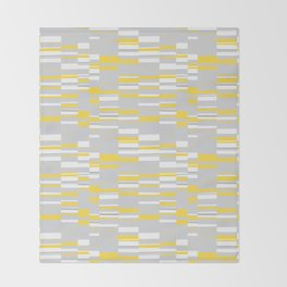 Mosaic Rectangles in Yellow Gray White #design #society6 #artprints Throw Blanket
