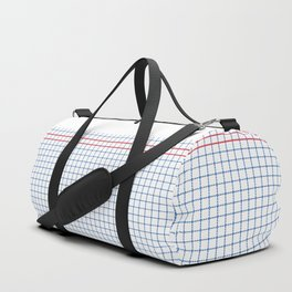 Dotted Grid Boarder Blue Red 2 Duffle Bag