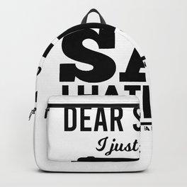I hate you Backpack