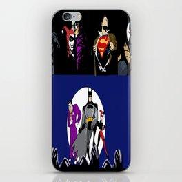 heros an villians iPhone Skin