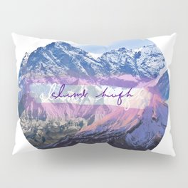 Climb High Mountain Collage Pillow Sham