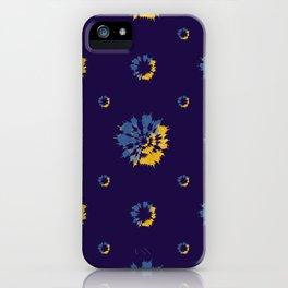 Beautiful Flowers Dye Pattern in Classic Blue iPhone Case