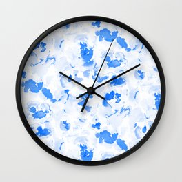 AbstractFlora Lapis Blue Wall Clock