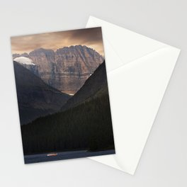 Sunrise Over Grinnell Glacier and Swiftcurrent Lake. Stationery Cards