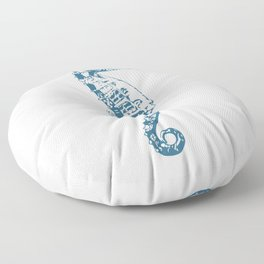 Cape Seahorse Floor Pillow