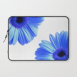 Blue Gerbera Flowers Laptop Sleeve