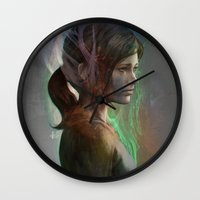 artgerm Wall Clocks featuring The last hope by Artgerm™