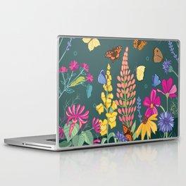Butterfly Friendly Flowers Laptop & iPad Skin