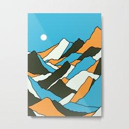 The simple hills Metal Print