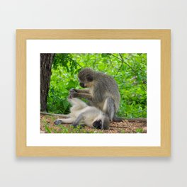"""""""African Pedicure"""" by ICA PAVON Framed Art Print"""