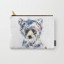 Baby Black Bear Watercolor Painting Carry-All Pouch