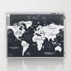 Nautical World Map Laptop & iPad Skin
