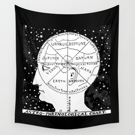 Astro Phrenological Chart Wall Tapestry