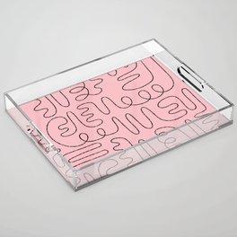Loops & Curves - Pink Acrylic Tray