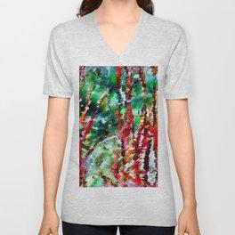 Autumn Grasses Abstract Unisex V-Neck