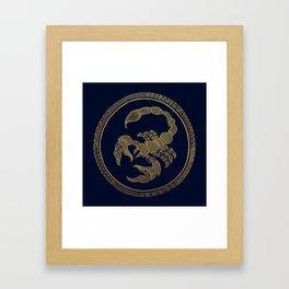 Golden Zodiac Series - Scorpio Framed Art Print