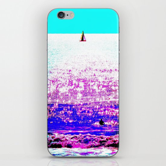 Sailboat and Swimmer (2d) iPhone & iPod Skin