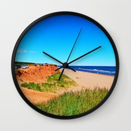 PEI Beach and Cliffside Parking Wall Clock