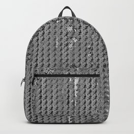 Wash out faux burlap-Gray Backpack