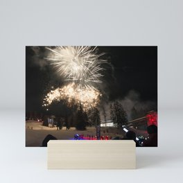 Fireworks Les Arcs 2017 Mini Art Print