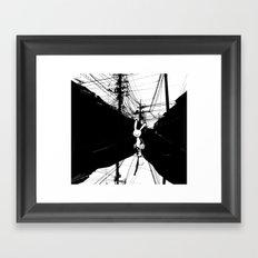 minima - beta bunny / noir Framed Art Print