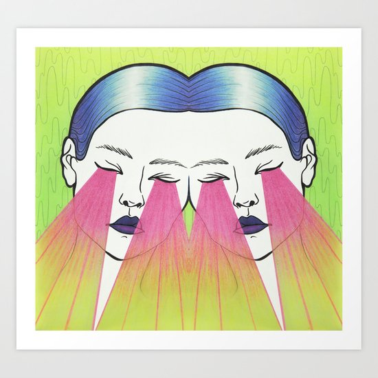 Twin beams Art Print