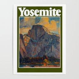 Vintage Yosemite National Park Poster