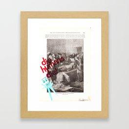 Robot history #1 Framed Art Print