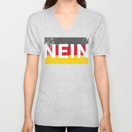 German No Funny Germany Oktoberfest  Unisex V-Neck