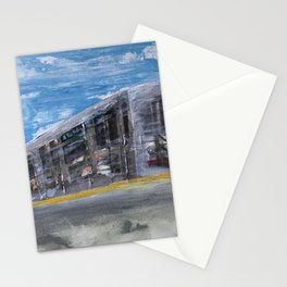 Moving A Train on NYC MTA Platform Stationery Cards