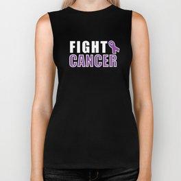 Fight Cancer - Cancer Motivation Biker Tank