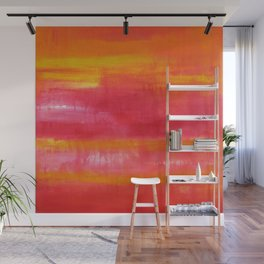 'Summer Day'  Orange Red Yellow Abstract Art Wall Mural