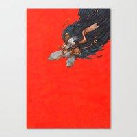 birdman Canvas Prints featuring Birdman by Anna Landin