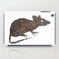 techno iPad Cases featuring Techno Rat by mariotarrago