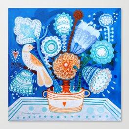 Blue flowers Canvas Print