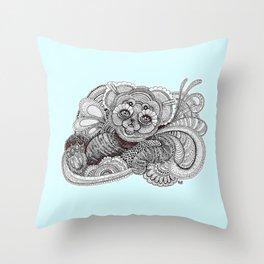 Be'er blue Throw Pillow