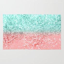 Summer Vibes Glitter #1 #coral #mint #shiny #decor #art #society6 Rug