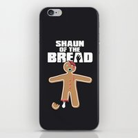shaun of the dead iPhone & iPod Skins featuring Shaun Of The Dead (Shaun Of The Bread) by Creative Spectator