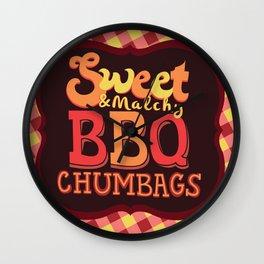 Sweet & Malchy BBQ Chumbags Wall Clock