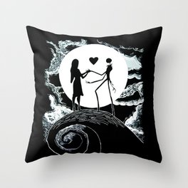 Jack and sally Nightmare Throw Pillow