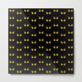 Horror Eyes Pattern Metal Print
